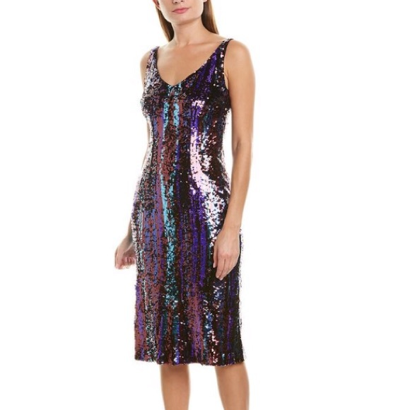 Bar III Women/'s Sequin Slip Dress Silver NWT
